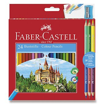 Obrázek produktu Pastelky Faber-Castell - 24 barev + 6 barev