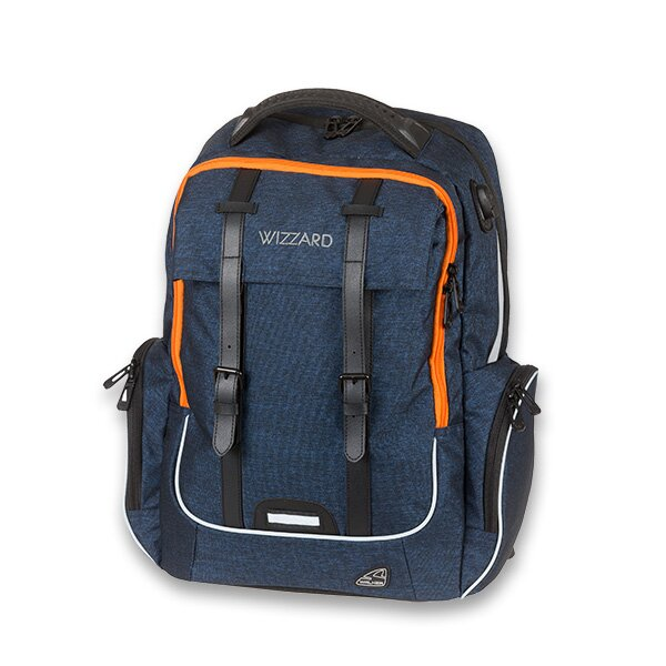 Školní batoh Walker Academy Wizzard Dark Blue Melange 0823f1bd88