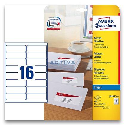 Obrázek produktu Avery Zweckform - adresní etikety - 99,1×33,9 mm, 400 etiket, inkjet