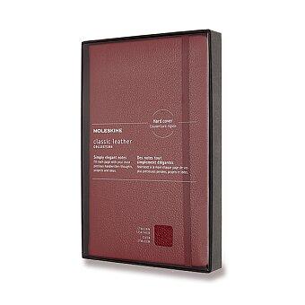 Obrázek produktu Zápisník Moleskine kožený - měkké desky - L, linkovaný, červený