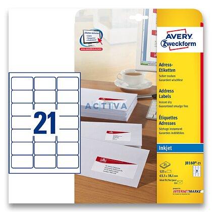 Obrázek produktu Avery Zweckform - adresní etikety - 63,5×38,1, 525 etiket, inkjet