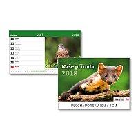 Naše příroda 2018 - stolní obrázkový kalendář