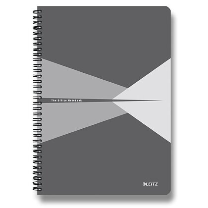 Product image Leitz Office - spiral notebook - A4, 90 s., Lined, gray
