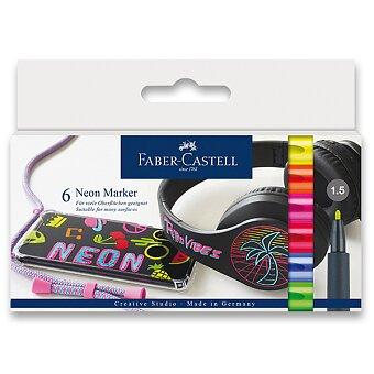 Obrázek produktu Popisovač Faber-Castell Neon - 6 barev