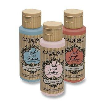 Obrázek produktu Barvy na textil Cadence Style Matt Fabric - 59 ml, výběr barev