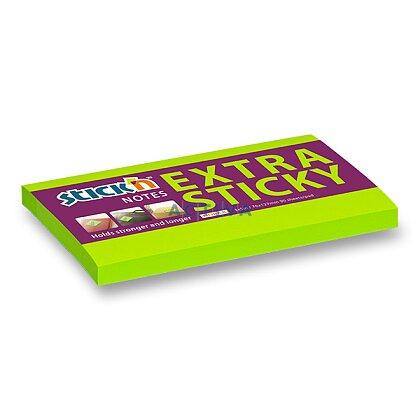 Obrázek produktu Hopax Stick'n Extra Sticky - samolepicí bloček - 127 × 76 mm, 90 l., zelený