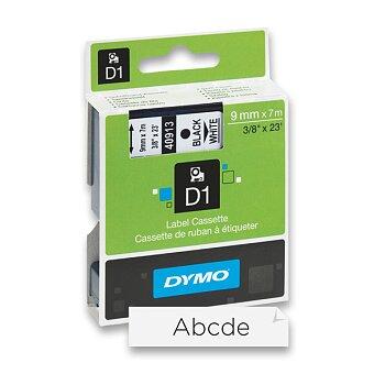 Obrázek produktu Polyesterová páska Dymo D1 - 9 mm x 7 m, černý tisk / bílá páska