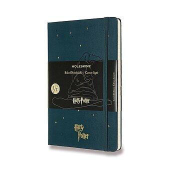 Obrázek produktu Zápisník Moleskine Harry Potter - tvrdé desky - L, linkovaný, Book 1, olivově zelený