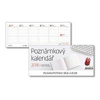 Poznámkový kalendář 2018 - stolní pracovní kalendář