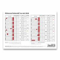 Plánovací karta 2018 - pracovní kalendář