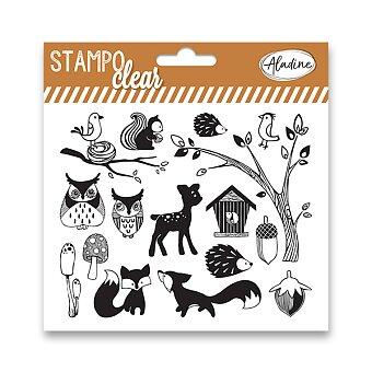 Obrázek produktu Razítka gelová Stampo Clear - Lesní zvířátka, 16 ks