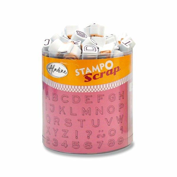 Razítka Stampo Scrap Tři mini abecedy, 103 ks
