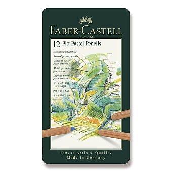 Obrázek produktu Umělecké pastely Faber-Castell Pitt Pastel - plechová krabička, 12 barev