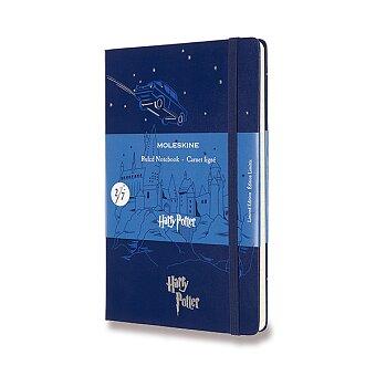 Obrázek produktu Zápisník Moleskine Harry Potter - tvrdé desky - L, linkovaný, Book 2, modrý