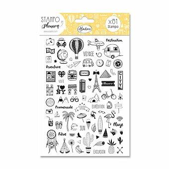 Obrázek produktu Stampo Planner Aladine - Cestování - 81 ks