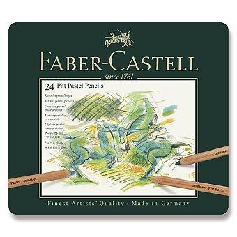 Obrázek produktu Umělecké pastely Faber-Castell Pitt Pastel - plechová krabička, 24 barev