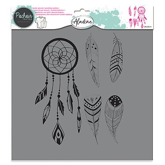 Obrázek produktu Plastová šablona AladinE - Peříčka - 28 x 28 cm