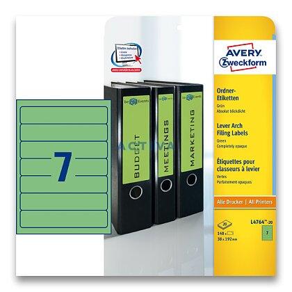 Obrázek produktu Avery Zweckform - etikety na pořadače - 192×38 mm, 140 etiket, zelené