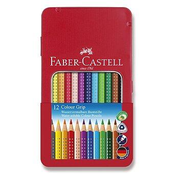 Obrázek produktu Pastelky Faber-Castell Grip 2001 - plechová krabička, 12 barev