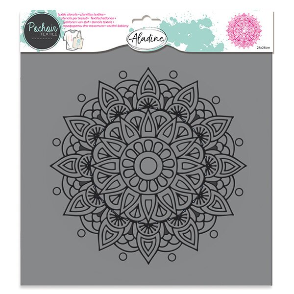 Plastová šablona AladinE - Mandala 28 x 28 cm