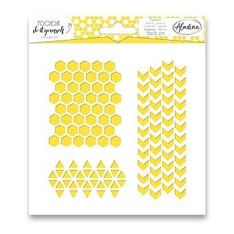 Obrázek produktu Plastová šablona AladinE - Geometrie a vzory - 15 x 15 cm