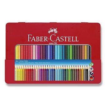 Obrázek produktu Pastelky Faber-Castell Grip 2001 - plechová krabička, 36 barev