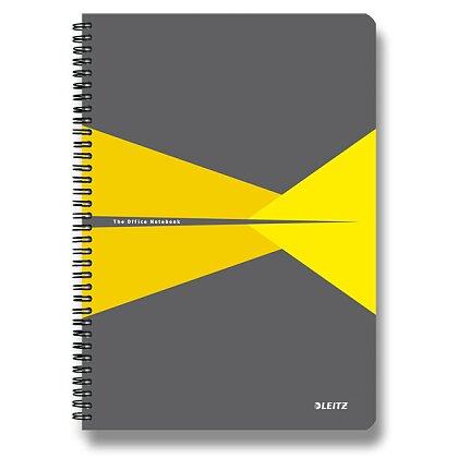 Obrázek produktu Leitz Office - kroužkový blok - A5, 90 l., linkovaný, žlutý
