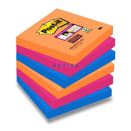 Obrázek produktu 3M Post-it SuperSticky - samolepicí bločky - 76 x 76 mm, 6 x 90 l., Bangkok