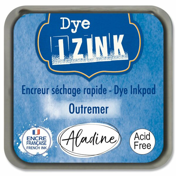 Razítkovací polštářek Izink Dye rychleschnoucí sv. modrá