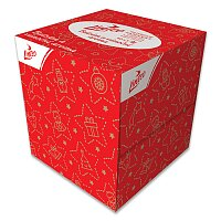 Papírové kapesníčky ve vánoční krabičce Linteo