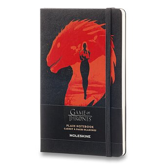 Obrázek produktu Zápisník Moleskine Hra o trůny - tvrdé desky - L, čistý, černý