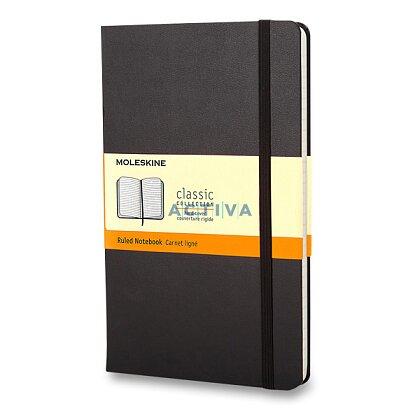 Obrázek produktu Moleskine - zápisník v tvrdých deskách - vel. L, 13 × 21 cm, linkovaný, černý
