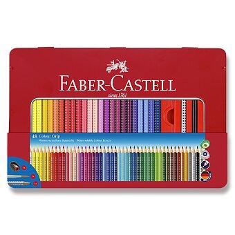 Obrázek produktu Pastelky Faber-Castell Grip 2001 - plechová krabička, 48 barev