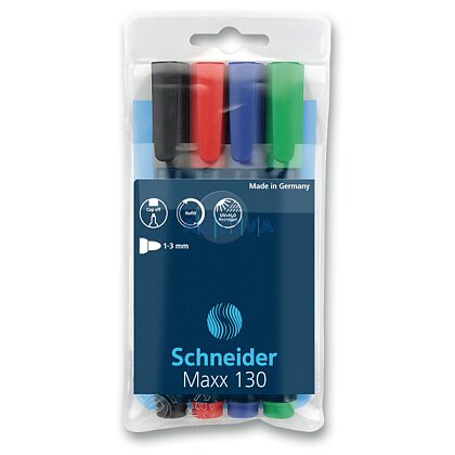 Obrázek produktu Schneider Marker 130 - permanentní popisovač - 4 barvy