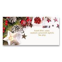PF 2021 s textem Vánoční ozdoby