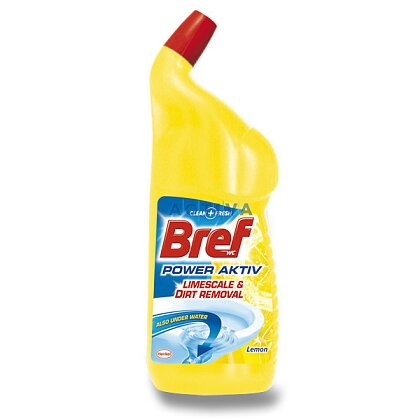 Obrázek produktu Bref WC Power Aktiv - čistič WC - Lemon, 750 ml