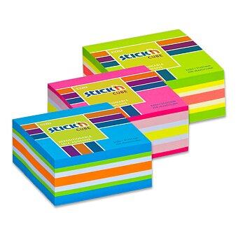 Obrázek produktu Samolepicí bloček Hopax Stick'n Notes Neon - 51 × 51 mm, 250 listů, různé barvy