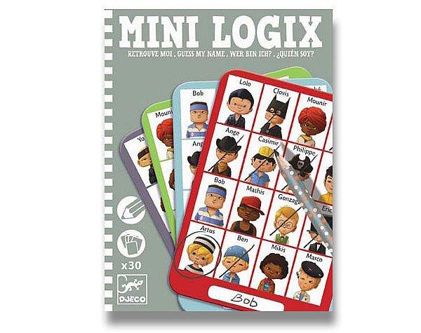 Mini hra Djeco Mini Logix - Hádej, kdo jsem - klučičí
