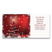 PF 2021 s textem Vánoční stromeček červený