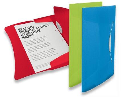 Obrázek produktu Spisové desky s gumičkou Esselte Vivida - A4, max 150 listů, výběr barev