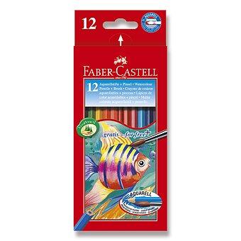 Obrázek produktu Akvarelové pastelky Faber-Castell - 12 barev + štětec