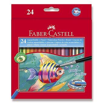Obrázek produktu Akvarelové pastelky Faber-Castell - 24 barev + štětec