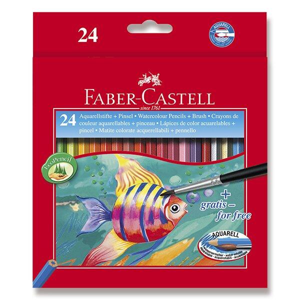 Akvarelové pastelky Faber-Castell 24 barev + štětec