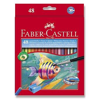 Obrázek produktu Akvarelové pastelky Faber-Castell - 48 barev + štětec