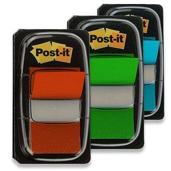 Obrázek produktu Samolepicí popisovatelná záložka 3M Post-it - plast, 25,4 x 43,2 mm, 50 ks, výběr barev