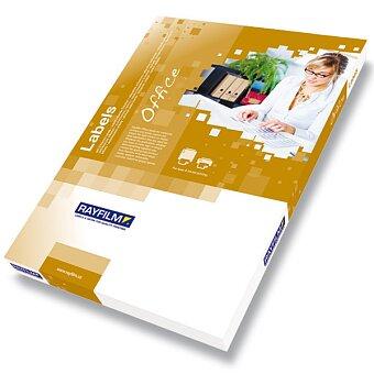 Obrázek produktu Bílé samolepicí etikety Rayfilm Glossy - 20 archů A4, výběr rozměrů
