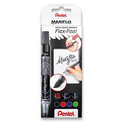 Product image Pentel Maxiflo Flex-Feel - white board marker - set of 4 pcs