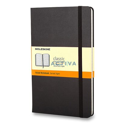 Obrázek produktu Moleskine - zápisník v tvrdých deskách - 9 x 14 cm, linkovaný, černý