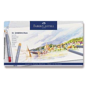 Obrázek produktu Akvarelové pastelky Faber-Castell Goldfaber Aqua - plechová krabička, 36 barev