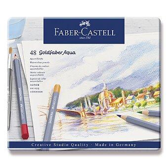 Obrázek produktu Akvarelové pastelky Faber-Castell Goldfaber Aqua - plechová krabička, 48 barev